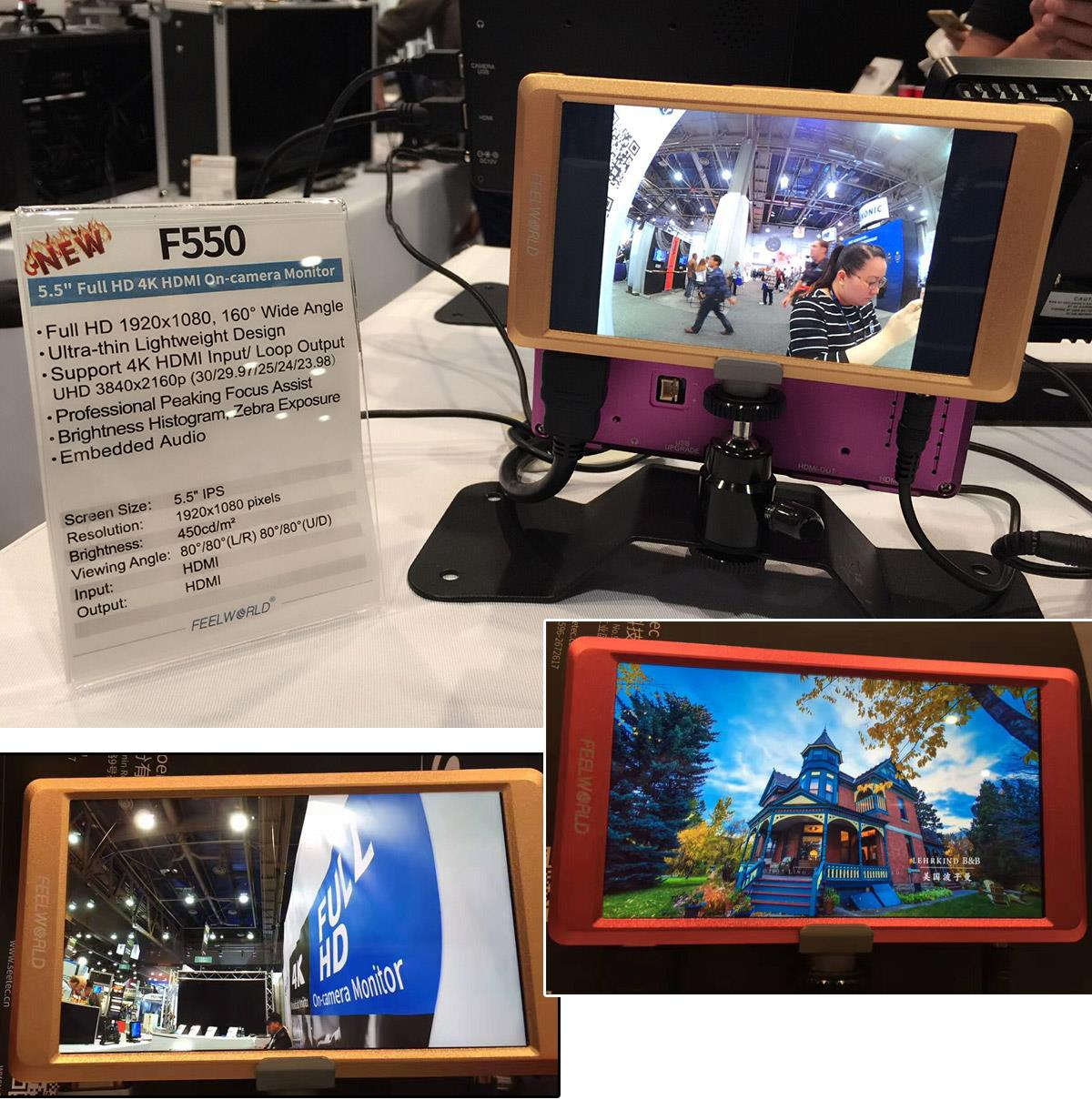 /F550 55 inch 4K monitor full hd